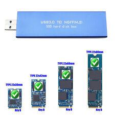 Adaptador de caja de almacenamiento externa de gabinete USB3.0 a M.2 NGFF SSD