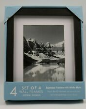"Swing Design 4 Pack Espresso Wall Frames Set 8 x 10"" NEW"