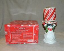*Snowman* Candle Holder W/ Candle Avon Festive Holiday/Seasonal Home New in Box
