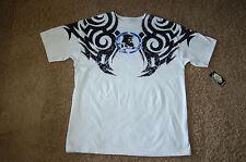 "NWT Men's Metal Mulisha ""Collector"" Shirt White Medium Nice LQQK Free Ship $24"