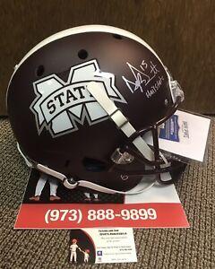 Dak Prescott Sig //*MINT AUTO*// Mississippi State FS Rep Helmet Radtke/Cowboys