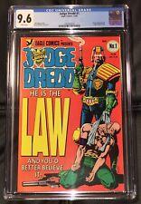 JUDGE DREDD #1 (Eagle Comics, 1983) CGC Graded 9.6! ~WHITE Pages