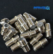 100 x Barrel Connector Coupler Join Extend F Plug Coax Aerial Satellite Cable