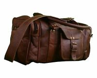 Newly Big Large Duffel Bag Travel Gym Sports Overnight Weekend Leather Bag 24""