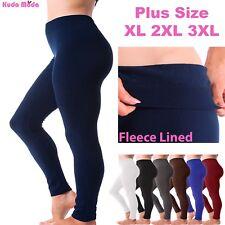 84b80cf90ec Kuda Moda Women Fleece Lined Warm Full Length Legging Pants Plus Size 1X 2X  3X