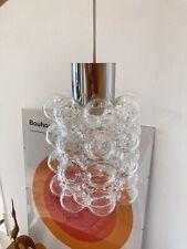 Mid Century 70's Deckenlampe Helena Tynell Design Sputnik Bubble Bauhaus Chrom