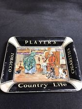 Vintage Players Cigarettes Country Life Ashtray Tobacco Rare Antique