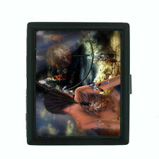 Dreamcatcher D3 Black Cigarette Case / Metal Wallet Snare Spider Web