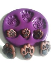 Animal Paws Silicone Mould  - Fimo, Sugarpaste Fondant Paper Clay Gum