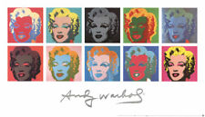Ten 10 Marilyns on White Background by Andy Warhol 1997 Art Print Poster 54x31.5