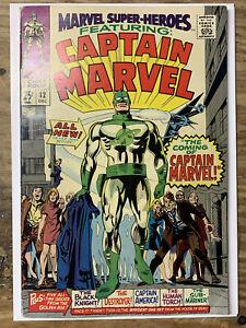 Marvel Super-Heroes #12/Silver Age Marvel Comic Book/1st Captain Marvel/FN+