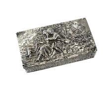Theodor Hartmann London Sterling Import Snuff Box 1902, Kurz German Hanau Silver