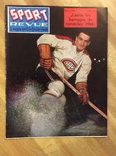 1958 Marcel Bonin- Sport Revue Hockey Magazine Vintage Montreal Canadiens