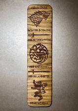 Wooden Bookmark Game Of Thrones House Stark, Lannister, Targaryen Christmas Gift