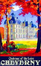 Chatreaux of the Loire Valley France French European Travel Poster Advertisement