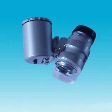Mini Jeweller 60X Pocket Microscope Jewelry Magnifier Loupe Glass LED Light