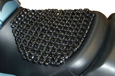 """BeadRider Classic Wooden Beaded Motorcycle Seat With Saddle Straps - 14"""" x 14"""""""