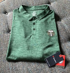 NWT Portland Timbers MLS Polo Shirt Big&Tall Size 3XL Green Slub Knit A3