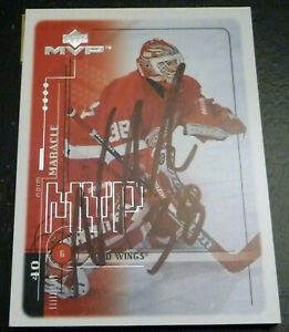 Norm Maracle SIGNED 1998-99 Upper Deck MVP #75 Detroit Red Wings AUTOGRAPH