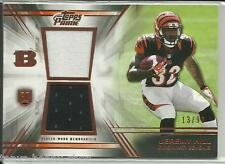 2014 Topps Prime Jeremy Hill Rookie Dual Worn Used Jersey 13/99 Bengals