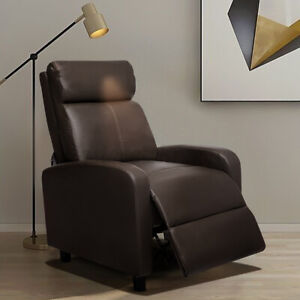 PU LEATHER RECLINER ARMCHAIR LOUNGE CHAIR RECLINING SOFA HOME BEDROOM CINEMA