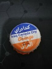 Iraq Crown caps made in iraq - Iraq canada Dry cap orange Drinks