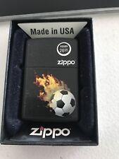 Zippo Lighter 28302 Soccer Ball Fire Flame