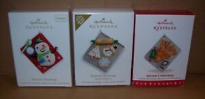 HALLMARK KEEPSAKE ORNAMENTS - SEASON'S TREATINGS, MULTIPLE YEARS NEW IN BOX