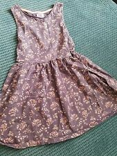 f&f 4-5 years girl dress summer blue with flower print