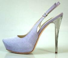 new $595 R & RENZI GIANMARCO LORENZI violet lilac silver heel shoes 37 7 - HOT
