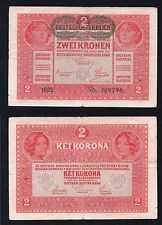 """2  Kronen Austria 1917  BB/VF  """""""