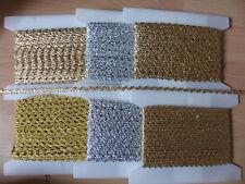 Zackenlitze - gold und silber - 6, 8, 12mm - 6Meter und preiswerte Reststücke