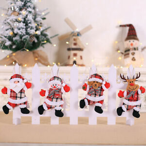 Christmas Plush Toy Christmas Tree Snowman Hanging Ornaments Gift Decorations-