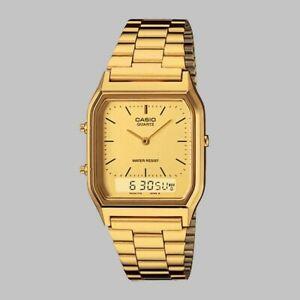 Casio AQ-230A-1D Casio All Gold Dual Time Watch AU