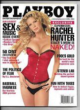MEN'S INTEREST April 2004 Playboy Magazine ~ Rachel Hunter Cover ~ VF/NM