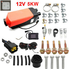 New 12V 5KW Diesel Air Heater w/ Switch For Truck,Car,Motor-homes Boat,Trailer