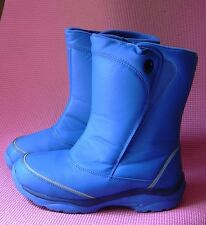 Lands End Royal Blue Padded Snow Boots Youth Unisex sz5