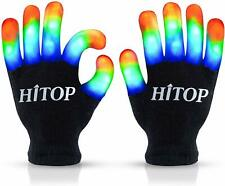 HITOP Led Gloves Cool Gift Light Up Kids Toys Boys Girls for Age 5 6 7 8 9 10 wi