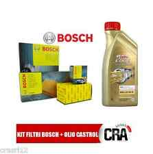 Kit tagliando olio CASTROL LONGLIFE 04 6LT +4 FILTRI BOSCH BMW 318D 320D E90 E91