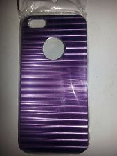 METAL HARD BACKING CASE (PURPLE) FOR APPLE iPhone 5
