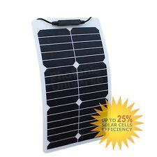 20 W Panel Solar Flexible Durable etilenotetrafluoretileno para Autocaravana, Caravana, Coche, Barco, Yate