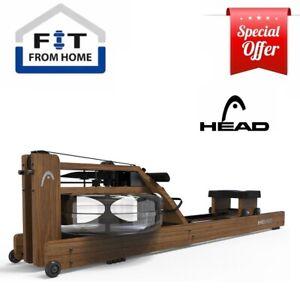 HEAD Rowing Machine Water Resistance Home Fitness Rower Premium Ebony Wood