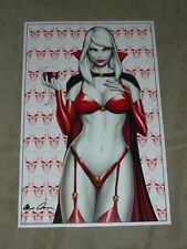 2018 SDCC LADY DEATH CRIMSON ART PRINT BY MIKE DEBALFO SIGNED PULIDO 11X17