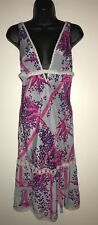 NWT Free People Intimately Dusty Blue Floral 100% Silk Slip Sz Small