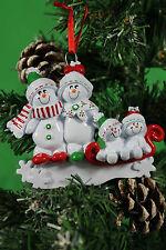 Personalizzata albero di Natale Decorazione / Ornamento NEVE Sled FAMIGLIA 4