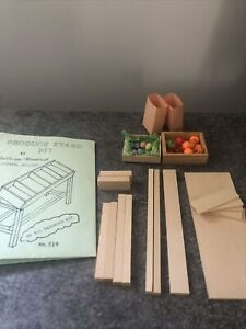 1:12 Dollhouse Miniatures Grocery Produce Stand Kit & Accessories