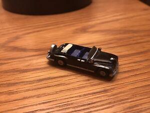 Micro Machine Open Top Lincoln 1961 Limousine in Black JFK