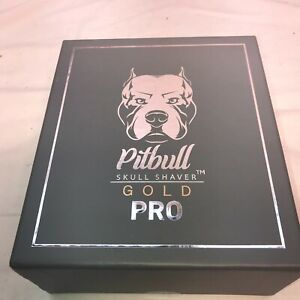 Pitbull Gold Pro Skull Shaver 4 Head Electric Recharge Cordless USB Wet Dry Gift