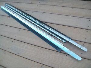 1987 -95 Chrysler LeBaron Convertible Door Belt Mouldings w/ Rubber Weatherstrip