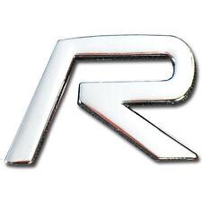 CHROME METAL R (R TYPE) MOTOR SWAP EMBLEM BADGE FOR TRUNK HOOD LATCH